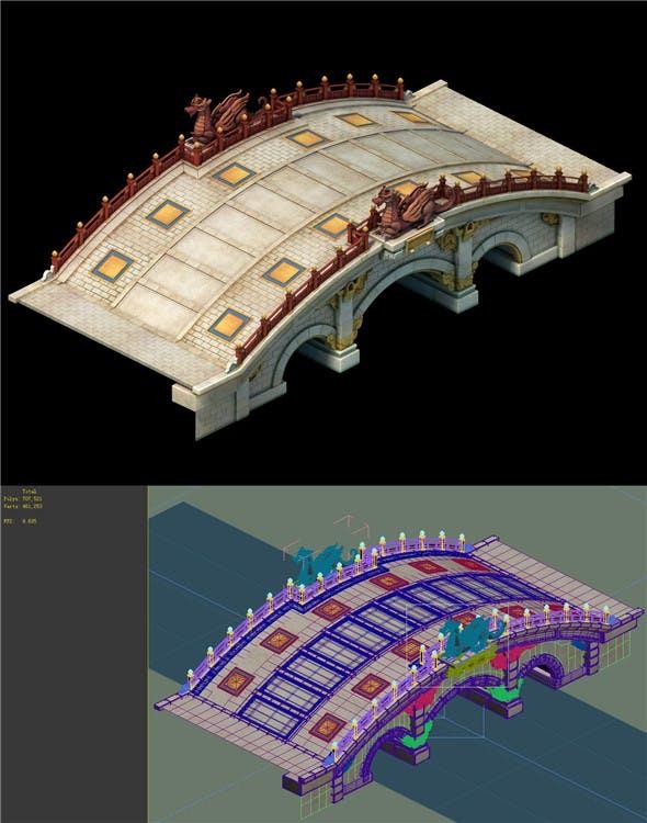 Game model - stone arch bridge - white jade bridge - 3DOcean Item for Sale