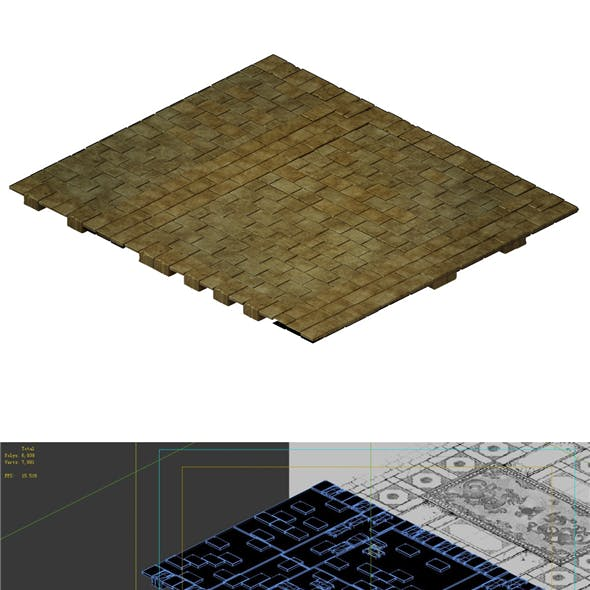 Game model - stone brick ground