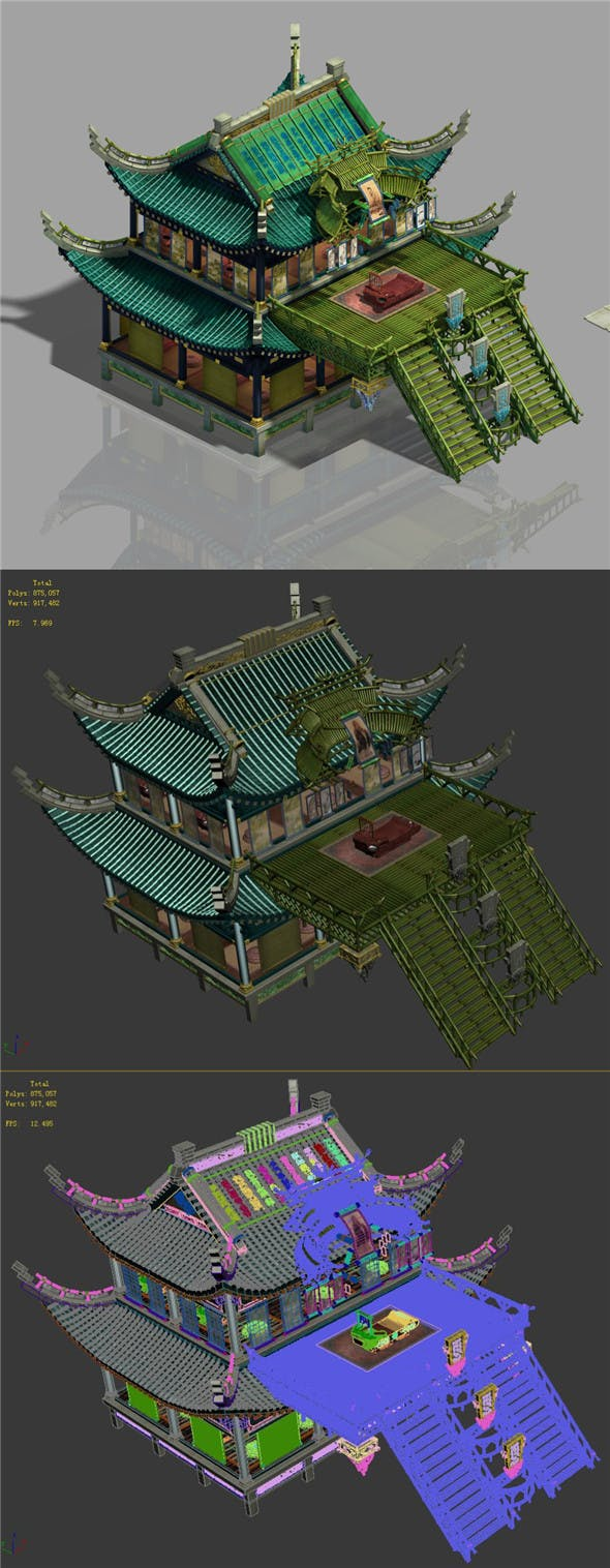 College - main building - 3DOcean Item for Sale
