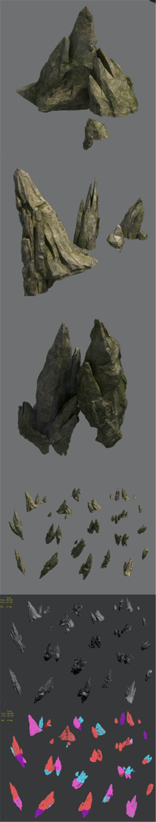 Shushan - pointed stone - 3DOcean Item for Sale
