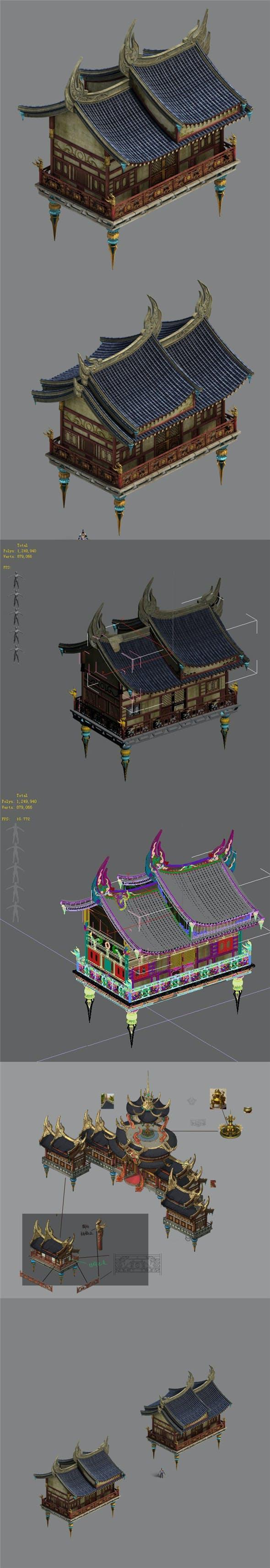 Shushan - side hall 02 - 3DOcean Item for Sale