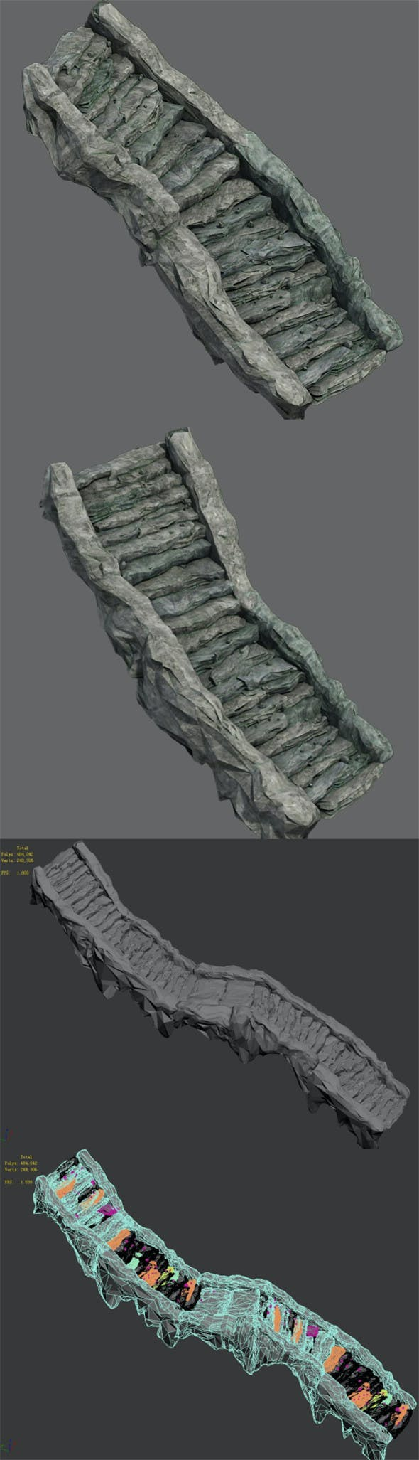Shushan - stone staircase 02 - 3DOcean Item for Sale