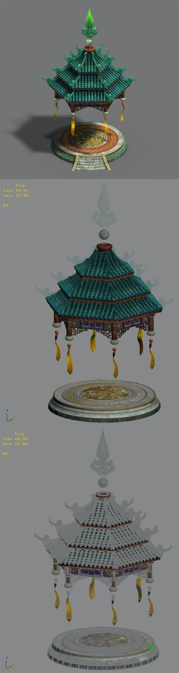 Shushan - small pavilion - 3DOcean Item for Sale