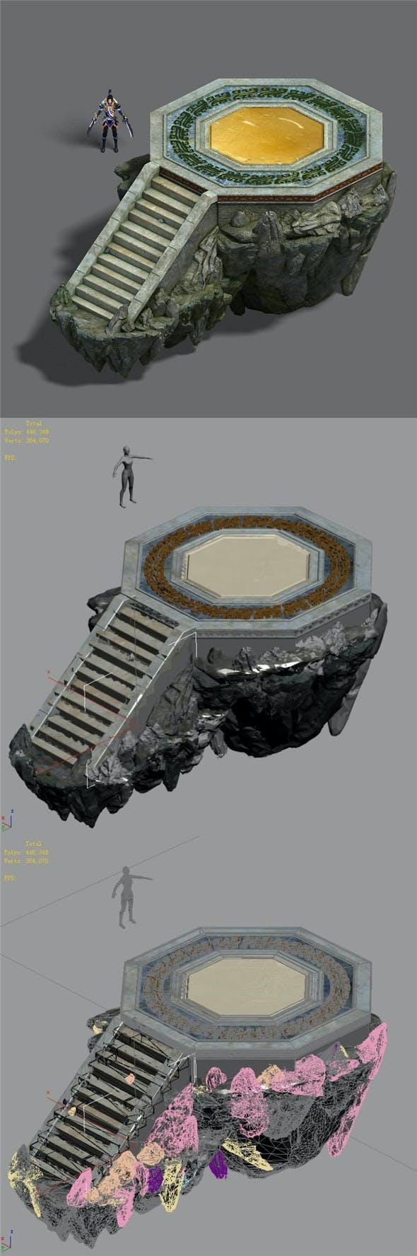 Shushan - small platform - 3DOcean Item for Sale