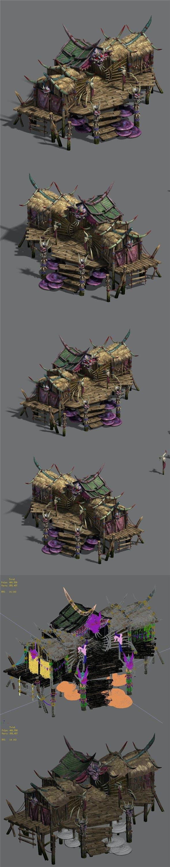 Water cloud Ze - witchcraft building 1 - 3DOcean Item for Sale