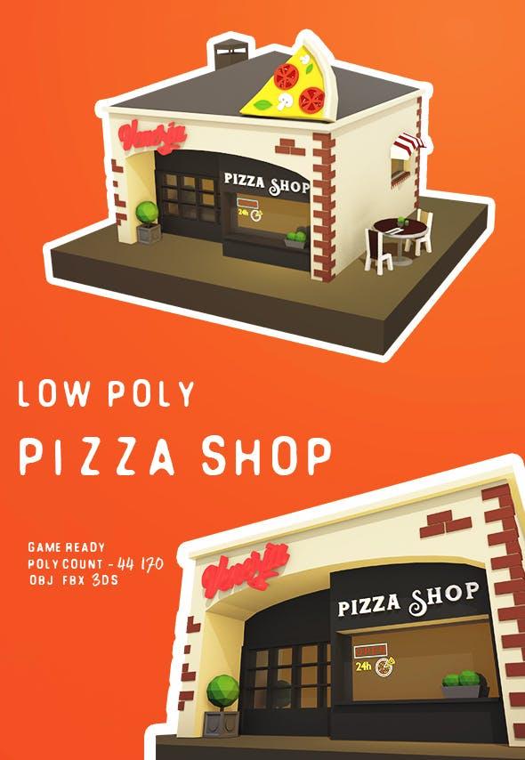 Low Poly Pizza Shop - 3DOcean Item for Sale