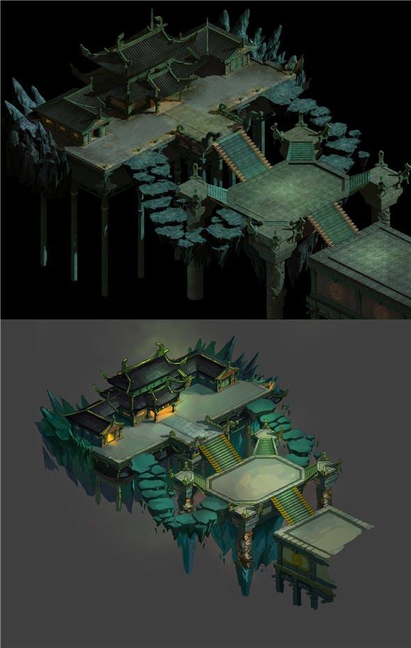 Game Model - Four Saints Palace - 3DOcean Item for Sale