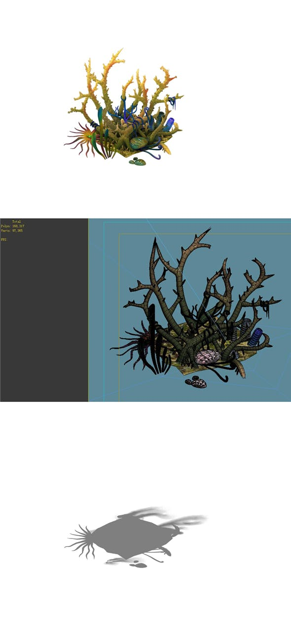 Game Model - Gifted Coral - 3DOcean Item for Sale