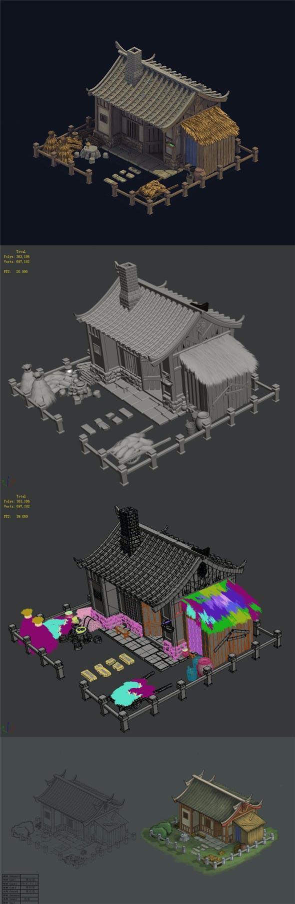 Countryside - farmhouse 01 - 3DOcean Item for Sale