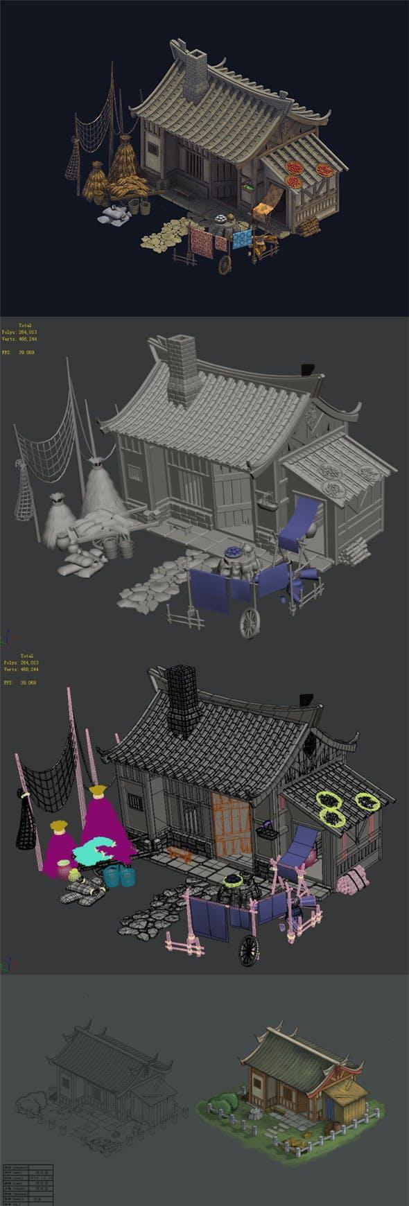 Countryside - Farmhouse 02 - 3DOcean Item for Sale