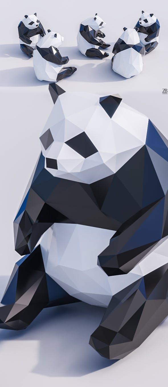 Lowpoly Panda - 3DOcean Item for Sale