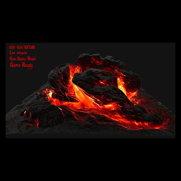 lava rock 2 - 3DOcean Item for Sale