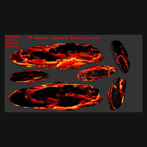 lava rock set 3 - 3DOcean Item for Sale