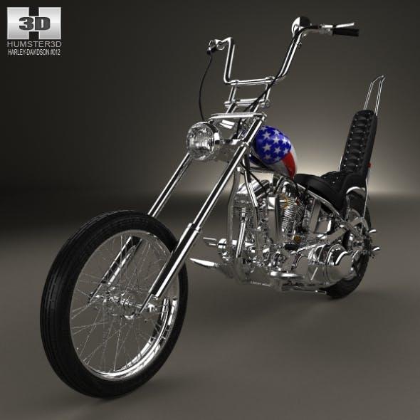 Harley-Davidson Easy Rider Captain America 1969 - 3DOcean Item for Sale