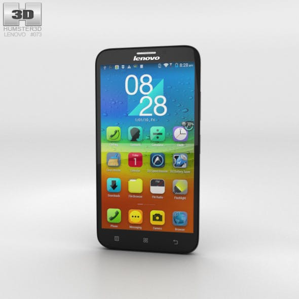 Lenovo A916 Black - 3DOcean Item for Sale