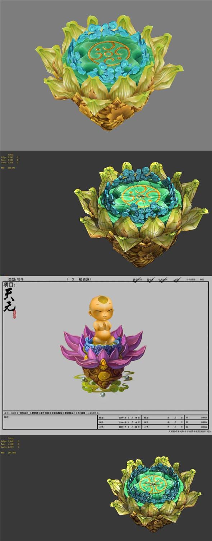 Game model - Yuan Ying base - 3DOcean Item for Sale