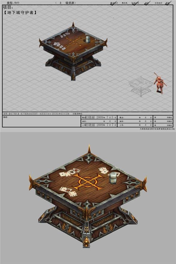 Arena game model test scenarios - Playground tables 01 - 3DOcean Item for Sale