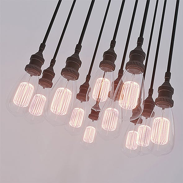 Vintage light bulbs - 3DOcean Item for Sale