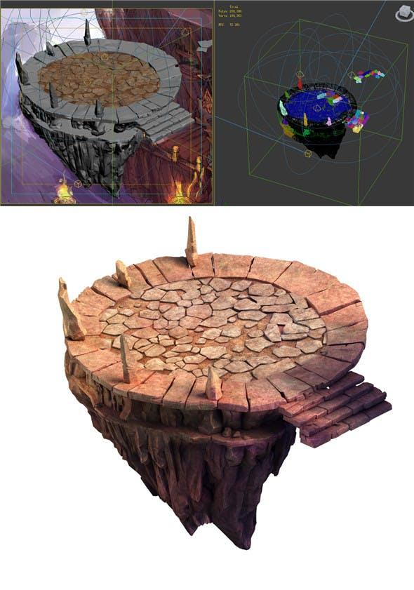 Built on cliff religious altar Zoroastrianism Platform 01 - 3DOcean Item for Sale