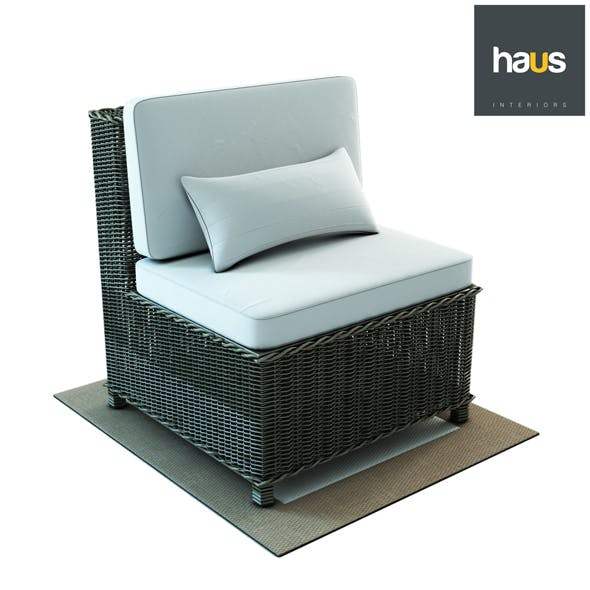 Haus Interior Armchair made of woven rattan