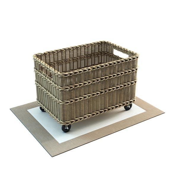 Jacquelyne Recycling Bin Basket - 3DOcean Item for Sale