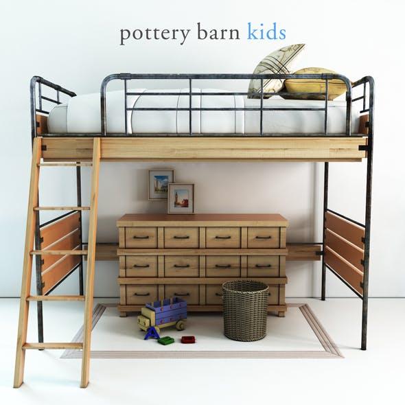 Pottery barn, Owen Twin Loft Bed - 1