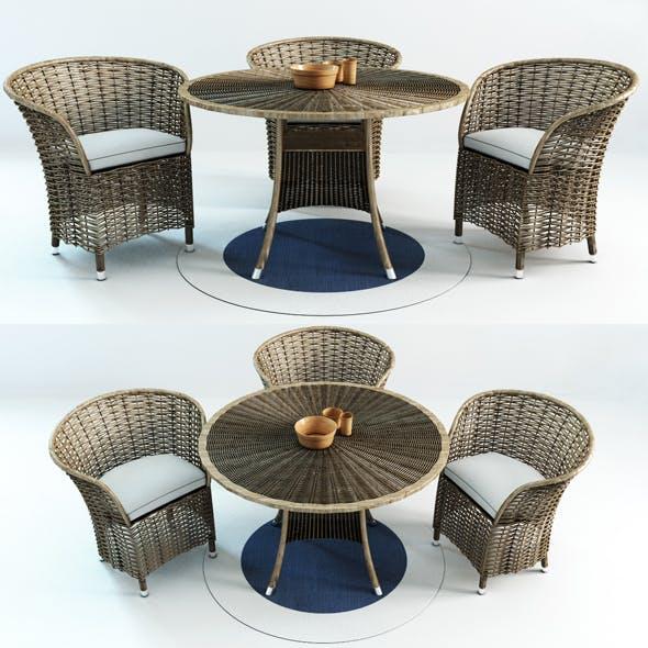 Patio Wicker - 3DOcean Item for Sale