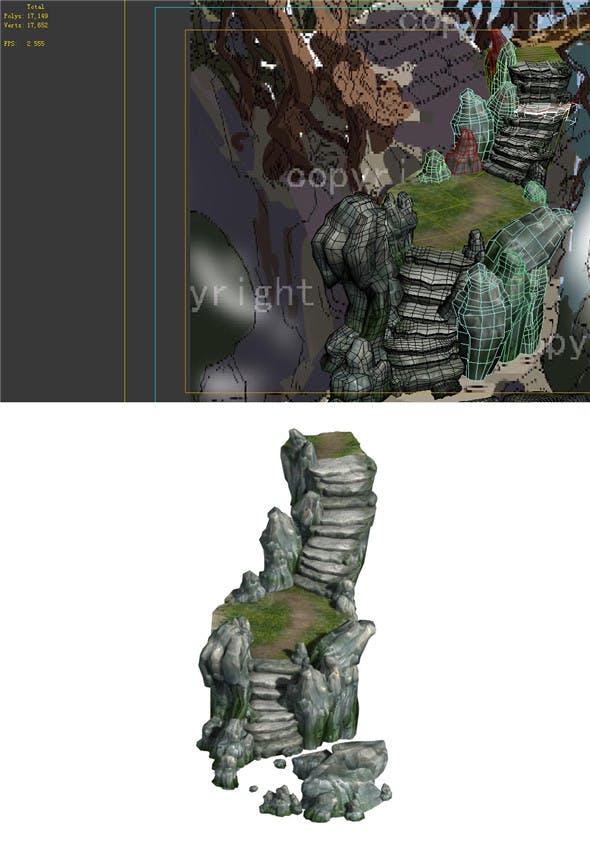 Game Model - Campanula Island scene - mountain stone road 04 01 - 3DOcean Item for Sale