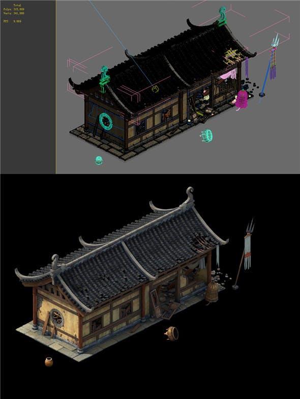 Game Model - prairie scene - Broken Temple 01 - 3DOcean Item for Sale