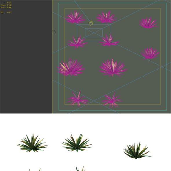 Game Model - prairie scene - Desert Plants 01