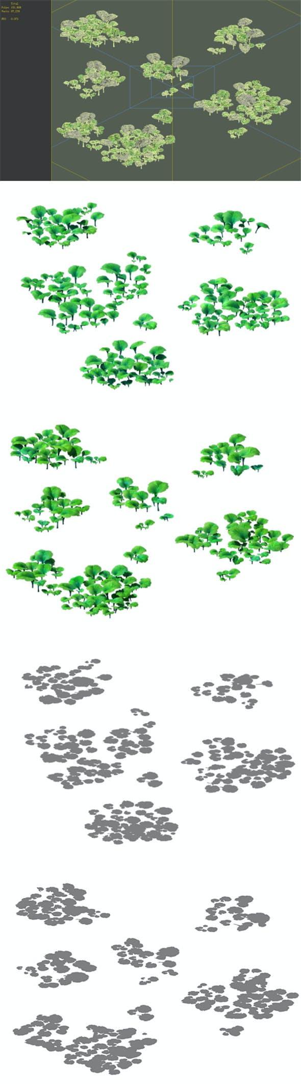 Game Model - prairie scene - Grass 01 01 - 3DOcean Item for Sale