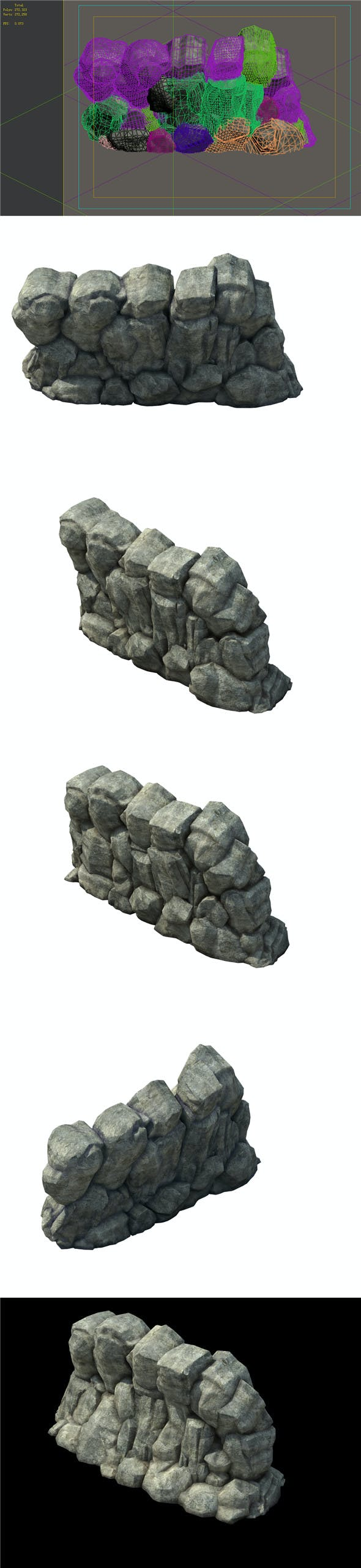 Game Model - prairie scene - grass stone 02 01 - 3DOcean Item for Sale