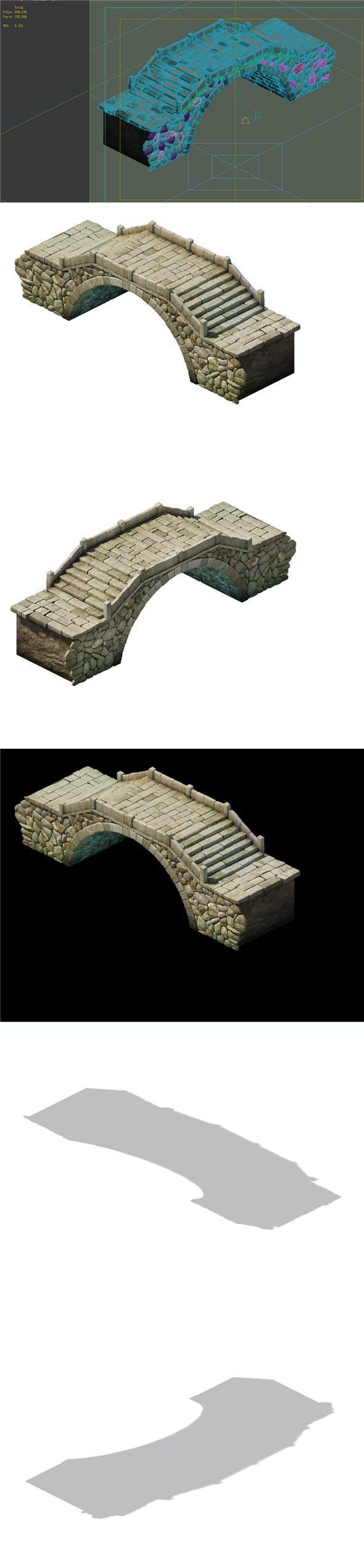 Game Model - prairie scene - Stone Bridge 01 - 3DOcean Item for Sale