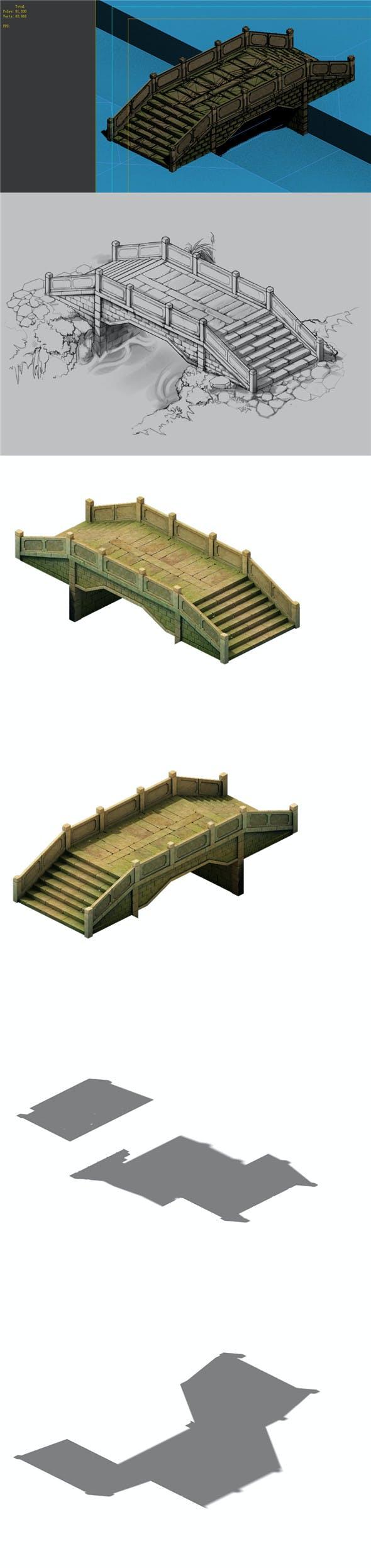 Game Model - prairie scene - Stone Bridge 02 01 - 3DOcean Item for Sale