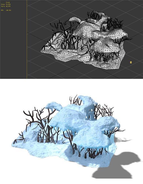 Game Model - Snow - low shrubs 01 - 3DOcean Item for Sale