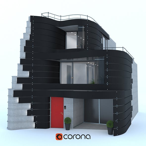 The facade of the house in Tokyo by designer Don Arad - 3DOcean Item for Sale