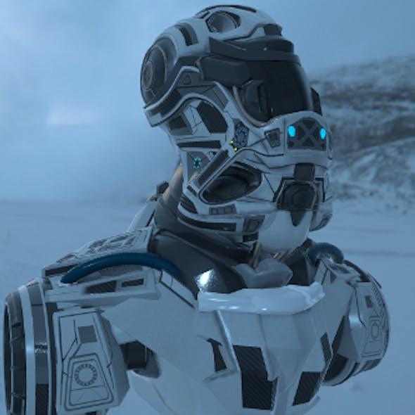 SCIFI Robot head-DHT-1 3D model