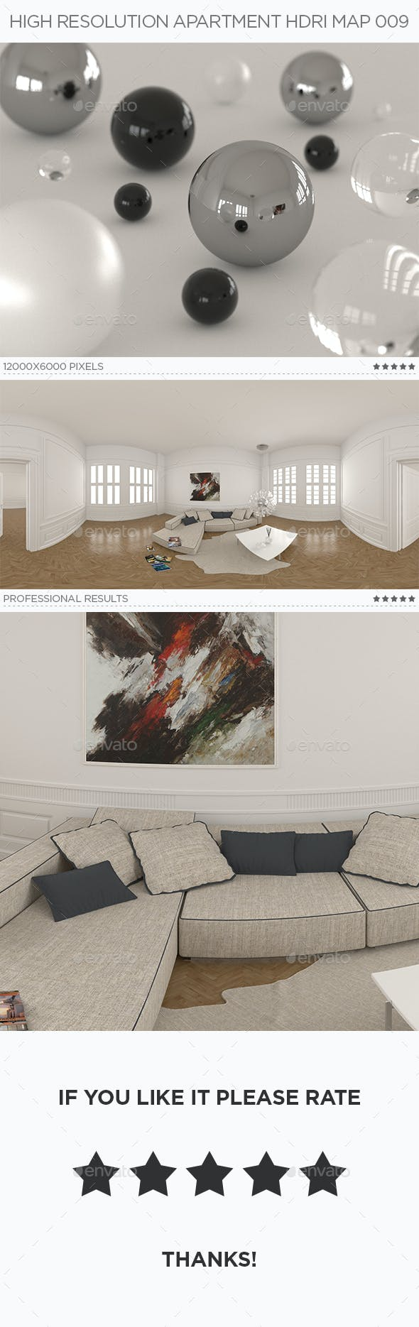 High Resolution Apartment HDRi Map 009 - 3DOcean Item for Sale