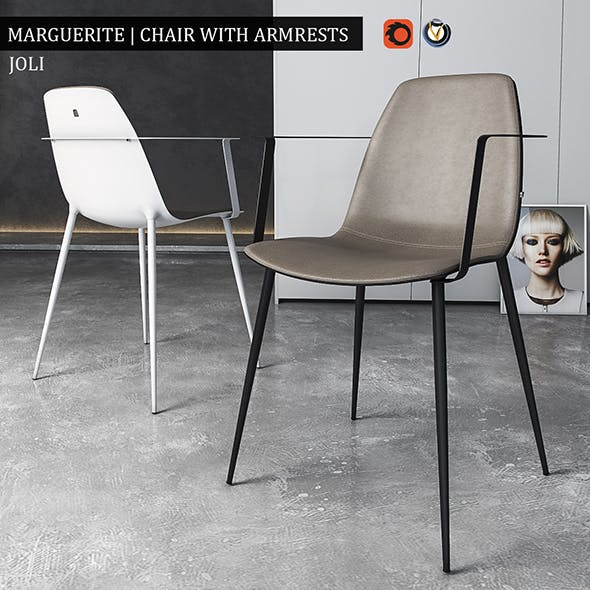 Chair Marguerite with armrests