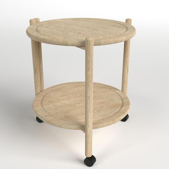 Wooden Circular Side Table - 3DOcean Item for Sale