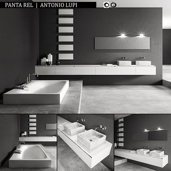 Bathroom furniture set Panta Rel - 3DOcean Item for Sale