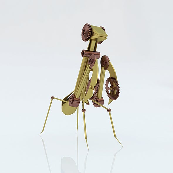 Steampunk mantis - 3DOcean Item for Sale