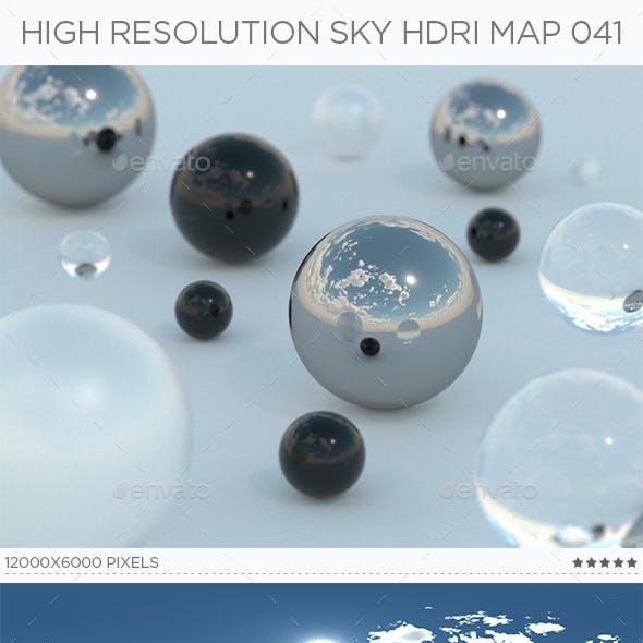 High Resolution Sky HDRi Map 041
