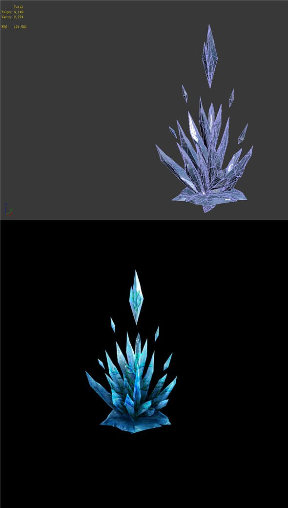 Game Model - snow - the ice spar Coral 02 01 - 3DOcean Item for Sale