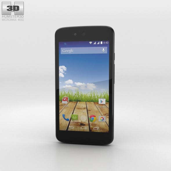 Micromax Canvas A1 Magnetic Black - 3DOcean Item for Sale