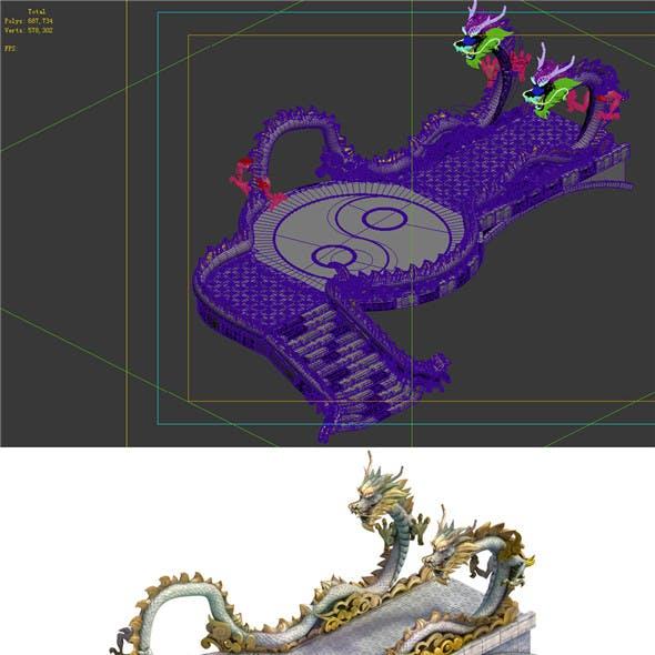 Game Model - Taoist comprehension scene - Gordon Xianqiao Dragon Bridge 01