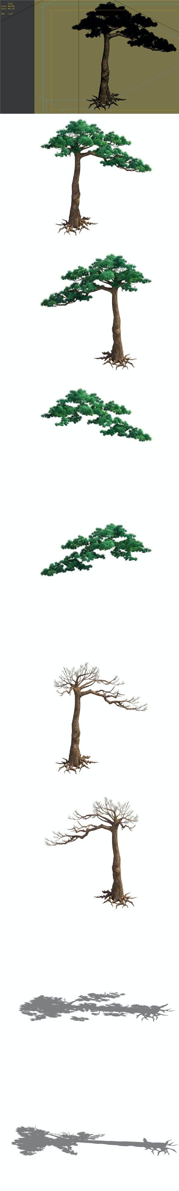 Game Model - Taoist comprehension scene - Pine 07 01 - 3DOcean Item for Sale