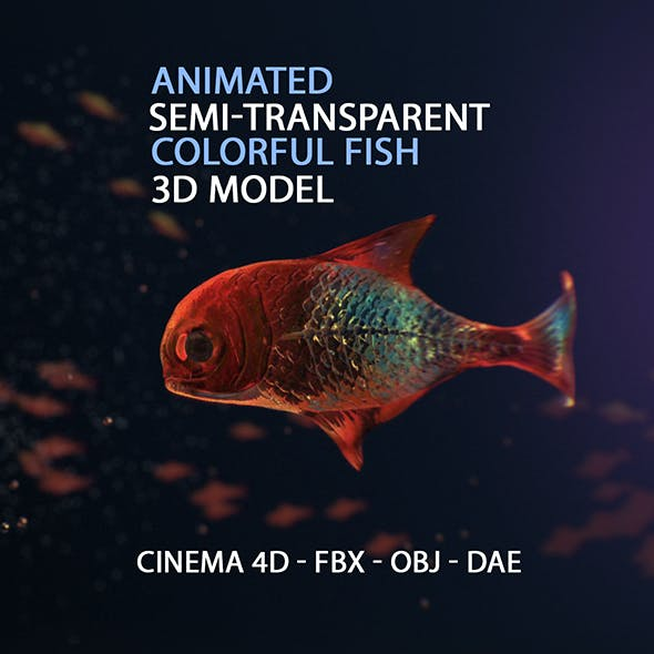 Animated Semi-transparent Fish Model