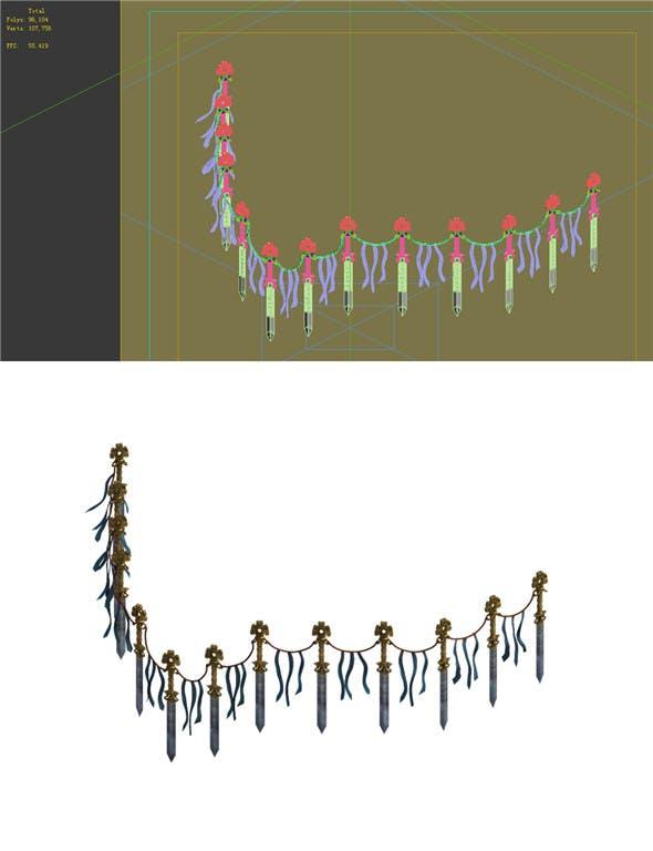 Game Model - Taoist comprehension scene - seen the overhang of Jian Zhen 01 - 3DOcean Item for Sale