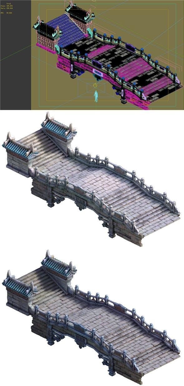Game Model - Taoist comprehension scene - Tianshui bridge and stairs 01 - 3DOcean Item for Sale